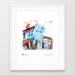 "Paul Wang, ""Pahang Street, Singapore"" Framed Art Print"