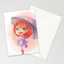 Umbrella Rain Stationery Cards
