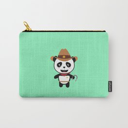Panda Cowboy with horseshoe T-Shirt Dtao7 Carry-All Pouch