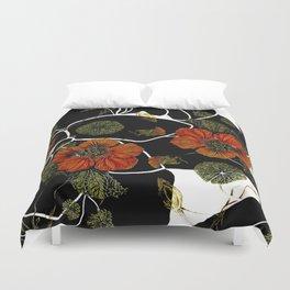 modern nasturtium Duvet Cover