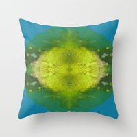 sonic Throw Pillows featuring Sonic Energy by katy zimmerman