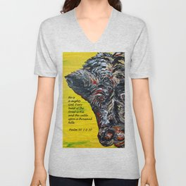 The Cattle on a Thousand Hills Unisex V-Neck
