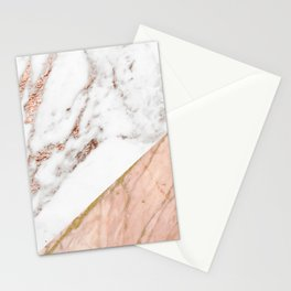 Marble rose gold blended Stationery Cards