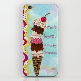 Ice Cream Happiness iPhone Skin