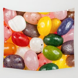 Cool colorful sweet Easter Jelly Beans Candy Wall Tapestry