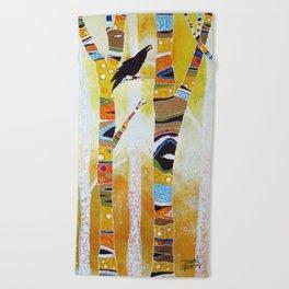 Raven Hanging the Sun Beach Towel