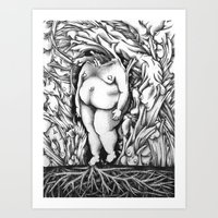 in the flesh Art Prints featuring Flesh by Rachel De Urioste