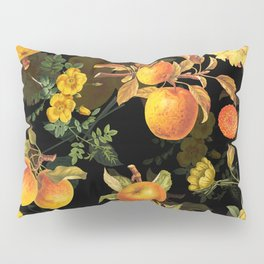 Vintage & Shabby Chic - Midnight Golden Apples Garden Pillow Sham