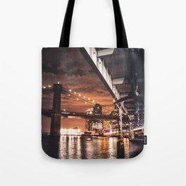 nyc brooklyn bridge Tote Bag
