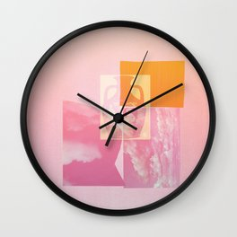 Portland Vase in Pink Wall Clock