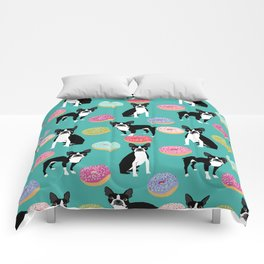 Boston Terrier donuts cute gifts for pure breed dog lover boston terriers owners Comforters