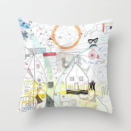 A Family Collaboration - 'No Place Like Home' Throw Pillow