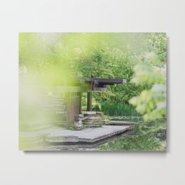 At the Lily Pond - Chicago Photography Metal Print