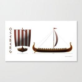 Oseberg Viking Ship Canvas Print