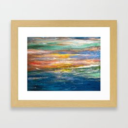 Carli's Beach View Framed Art Print