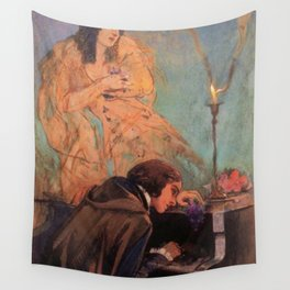 Delacroix - George Sand et Frédéric Chopin Wall Tapestry