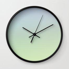 ENTER QUIETLY - Minimal Plain Soft Mood Color Blend Prints Wall Clock