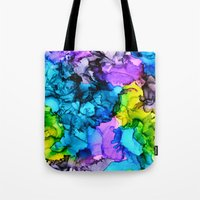 mermaids Tote Bags featuring Mermaids by Claire Day