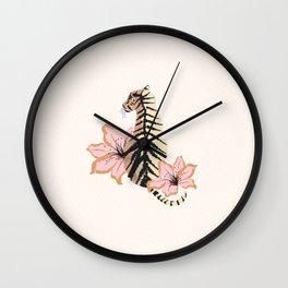 Le White Tigress Wall Clock