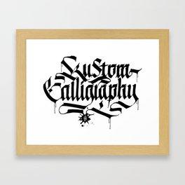 Kustom Calligraphy Framed Art Print