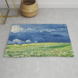 Vincent van Gogh - Wheatfield Under Thunderclouds Rug