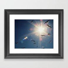 fly into the sun Framed Art Print