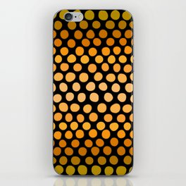 Honey Gold and Amber Ombre Dots iPhone Skin