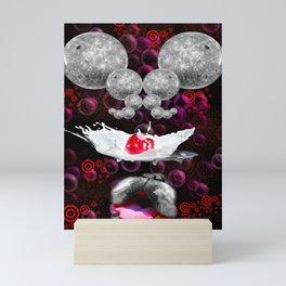Lapping At Moon Cream Mini Art Print