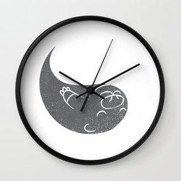 Yin And Yang Otter Shirt Matching Couple Valentine Costume Wall Clock