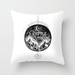 Rattle The Stars BW Throw Pillow