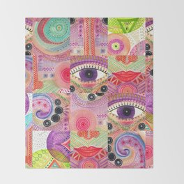 colorful words of a poem Throw Blanket