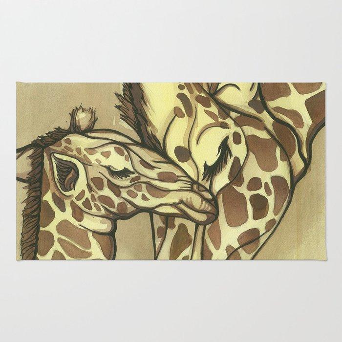 Giraffe Kisses Rug