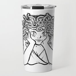Medusa's Gaze Travel Mug