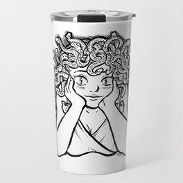Medusa's Gaze Travel Mug