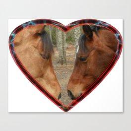 Loving horses Canvas Print