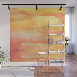 Apricot Sunset Wall Mural