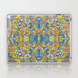 Retro robots are back and just want to have as much fun as possible Laptop & iPad Skin
