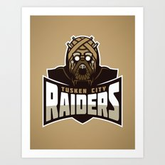 Tusken City Raiders - Tan Art Print