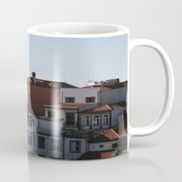 portugal Mugs featuring Porto Portugal  by Sanchez Grande