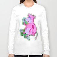 cow Long Sleeve T-shirts featuring Cow by OLHADARCHUK