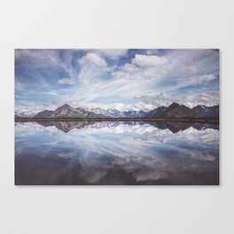 Mountain Lake Reflection - Landscape and Nature Photography Canvas Print