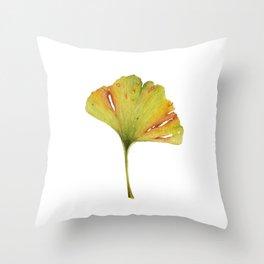 Gingko Leaf Throw Pillow