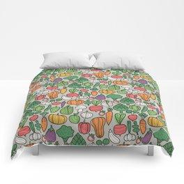Farm veggies Comforters