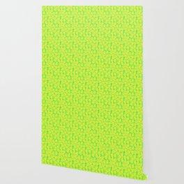 Big Monstera Tropical Leaf Hawaii Rain Forest Lemon Yellow and Lime Green Wallpaper