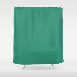Illuminating Emerald - solid color Shower Curtain