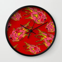 PASSION FRUIT IN RED Wall Clock