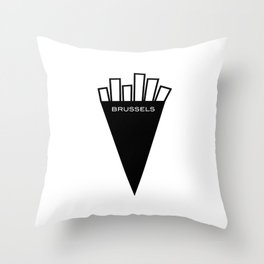 Fries From Brussels Belgium Throw Pillow