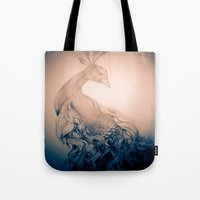 blankets Tote Bags featuring Blankets like Mountains - desaturated. by ShashArt