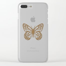 Pure Gold Butterfly Clear iPhone Case