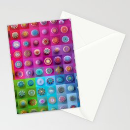 Colourful collection of hand painted mandala stones Stationery Cards
